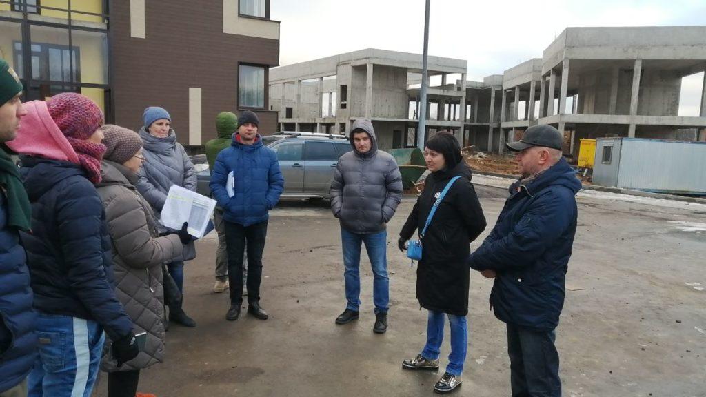 Дольщики на стройке ЖК Булатниково 18 января 2020